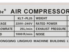 Technische Gegevens Compressor