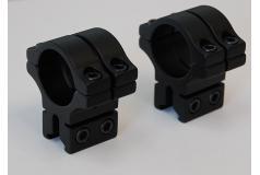 BKL 30mm dubbelklem ringen Zwart