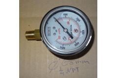 Vloeistofgedempte Manometer RVS