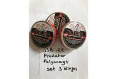 Beschadigde doosjes Predator Polymag .22 (set 3 tins)