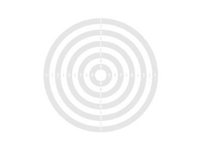 Schietkaarten met 1 roos 14x14 cm, 100 stuks